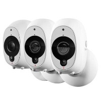 Swann 1080p Full HD Wireless Wi Fi Camera with Heat/Motion Sensing Night Vision & Audio -  Triple Pack