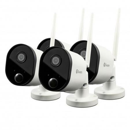 SWWHD-OUTCAMPK4-UK Swann 1080p HD Wireless Wi-Fi Cameras with Heat/Motion Sensing Night Vision & Audio - 4 Pack