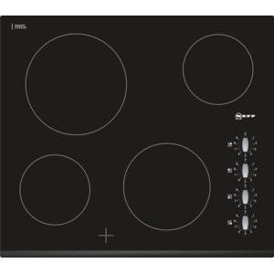 Neff T11K40X2 59cm Wide Rotary Control Four Zone Ceramic Hob - Black