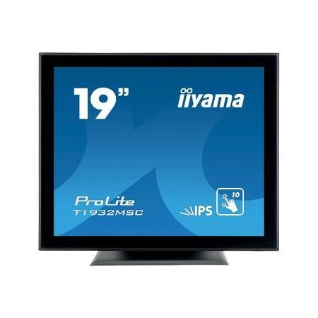 "T1932MSC-B5X Iiyama ProLite T1932MSC-B5X 19"" IPS Multi-Touch Touchscreen Monitor"