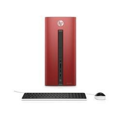 Refurbished HP Pavilion 550-232na Intel Core i3-6100 3.7GHz 8GB 1TB DVD-RW Windows 10 Desktop in Red