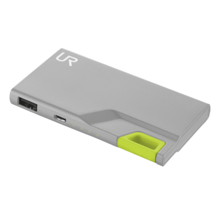 T20237 Trust PowerBank 3000T Thin Portable Charger - Grey/Green