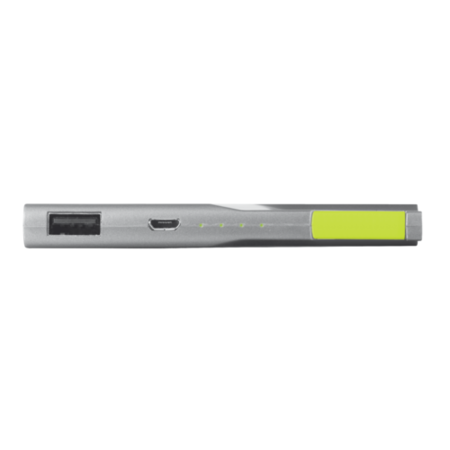 Trust PowerBank 3000T Thin Portable Charger - Grey/Green