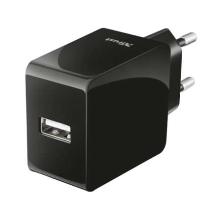 Trust 12W Fast USB Wall Charger for Phones & Tablets UK