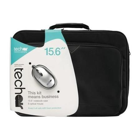 "Tech Air Z0110 15.6"" Black Briefcase and Mouse"