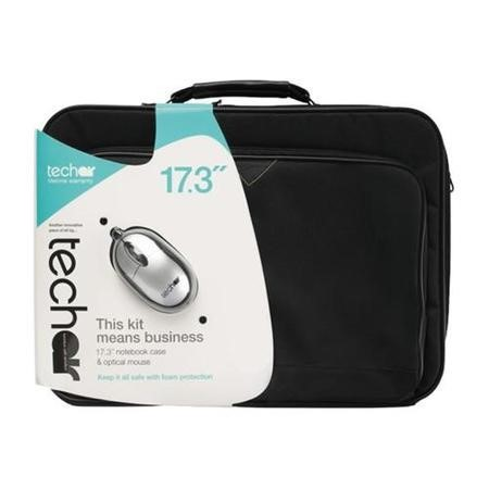 "Tech Air 17.3"" Black Laptop Carry Case and Silver Mouse"