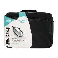 Tech Air - 17.3 Inch Laptop Carry Case + Silver Mouse - Black Case