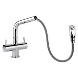 Rangemaster Aquapro Brushed Steel Pull-out Monobloc Tap