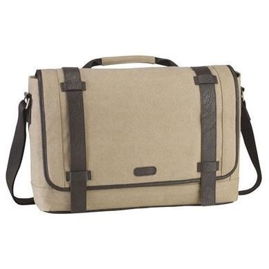 "Targus 15.6"" City Fusion Canvas Laptop Messenger Bag - Beige"