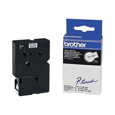 Brother Black on White 12mm Tape