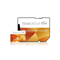 Team Colour 128GB Micro SDXC 128GB Flash Card with Adapter