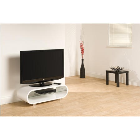 TechLink Ovid OV95 White TV Stand - Up to 50 Inch