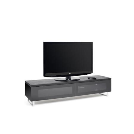 TechLink Panorama PM160B Black TV Cabinet - Up to 80 Inch