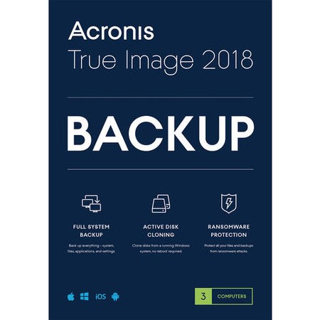 Acronis TI3OB2ENS True Image 2018 - 3 Computers