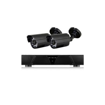 electriQ 4 Channel HD 720p Digital Video Recorder with 2 x 800TVL Bullet Cameras - Hard Drive required