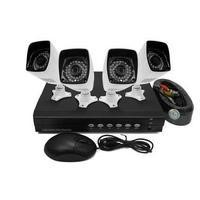 electriQ 4 CH 1080p AHD CCTV Kit DVR 4 Bullet Cameras HD720p Hard Drive required