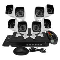 electrIQ 8 channel AHD 1080p Kit with 1TB Hard Drive installed & 8 HD 720p Bullet Cameras