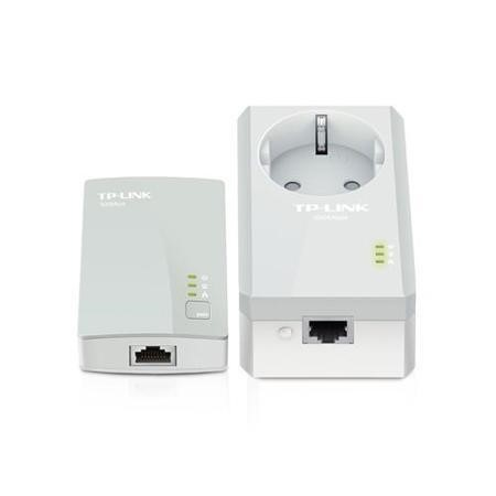 TP-Link TL-PA4016P KIT 500Mbps 10/100 Powerline Adapter Starter Kit 2-Port AC Pass Through