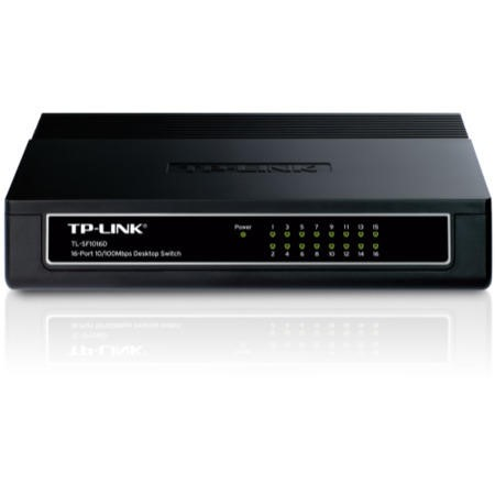 TP-Link TL-SF1016D 16-Port Unmanaged 10/100M Desktop Switch