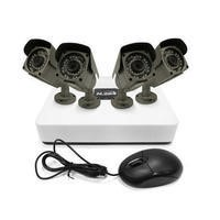 electriQ 4 Channel HD 1080p Network Video Recorder with 4 x 960p Bullet Cameras & 1TB Hard Drive