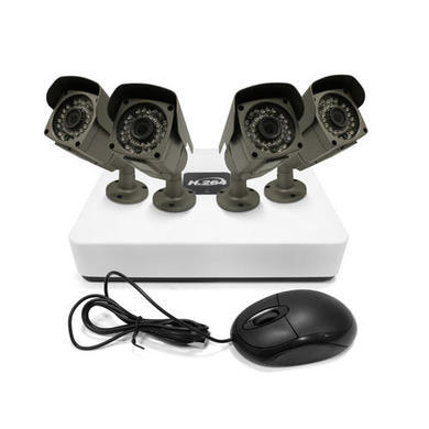 GRADE A1 - As new but box opened - electriQ 4 CH IP CCTV Security System 1080p NVR Kit 4 Bullet Cameras 960p POE 1TB Hard Drive