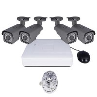 electriQ CCTV System - 4 Channel HD 1080p NVR with 4 x 1080p Bullet Cameras & 1TB HDD