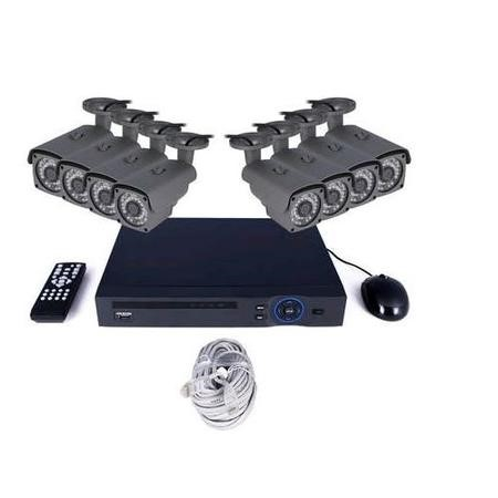 electriQ CCTV System - 8 Channel HD 1080p NVR with 8 x 1080p Bullet Cameras & 1TB HDD