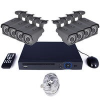 GRADE A1 - electriQ 8 Channel HD 1080p Network Video Recorder with 8 x 1080p Bullet Cameras - Hard Drive Required