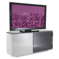 UKCF Tokyo Gloss White and Black Corner TV Cabinet - Up to 42 Inch