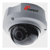 Topica TOP-767HVP-MIR 1M Megapixel Vandal proof IP Dome Camera 3.3-12mm PoE