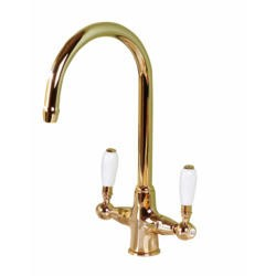 Astracast TP0326 Colonial Classic Twin Lever Dual Flow Tap in Gold