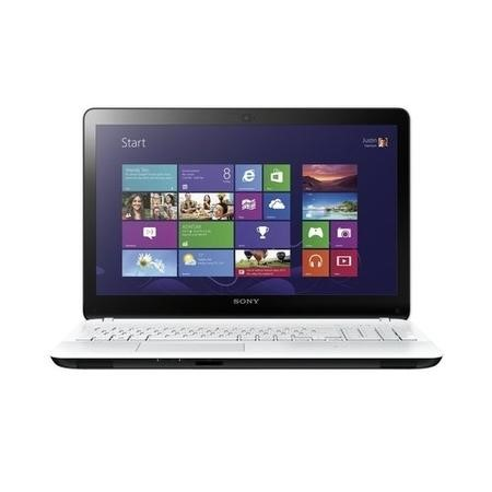Refurbished Sony SVF142C29M Core i3 3227U 4GB 500GB DVD-RW 14 inch Touchscreen Windows 10 Laptop in White