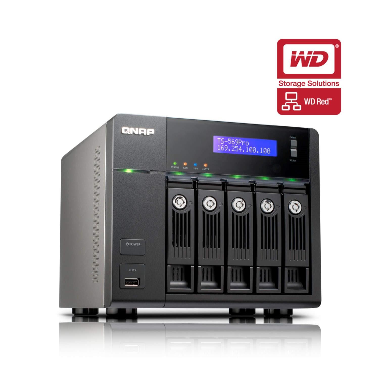 QNAP TS-569 PRO 10TB WD Red 5 Bay NAS