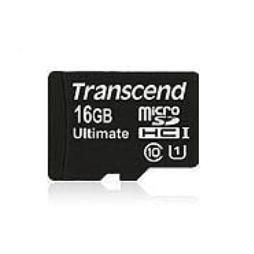 Transcend UHS-I 600x 16GB MicroSDHC Flash Card Class 10 with Adaptor Ultimate