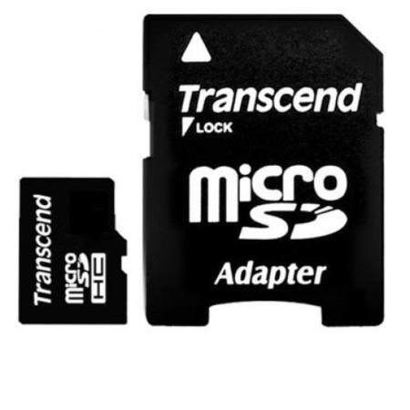 Transcend 16GB Micro SDHC Flash Card with Adapter Class 4