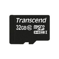Transcend 32GB MicroSDHC Class 10 Card with Adaptor