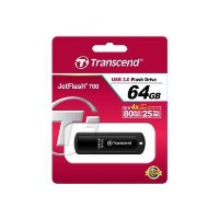 Transcend JF700 64GB USB 3.0 Flash Drive - Black