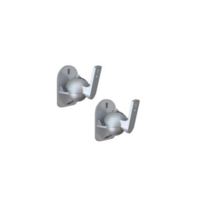 Rax Pair of Wall mounting Speaker Brackets - Small Silver