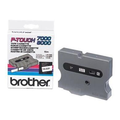 Brother 12MM Gloss TX Black on White