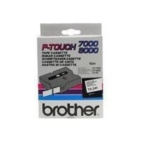 BROTHER 18MM GLOSS TX BLACK ON WHITE