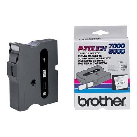 TX251 Brother TX 251 - laminated tape