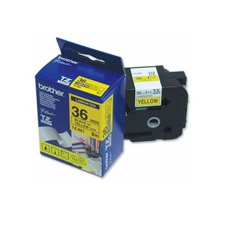 Brother - laminated tape - 1 rolls Black on Yellow