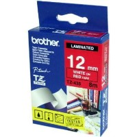 Brother 12MM White on Red Tape