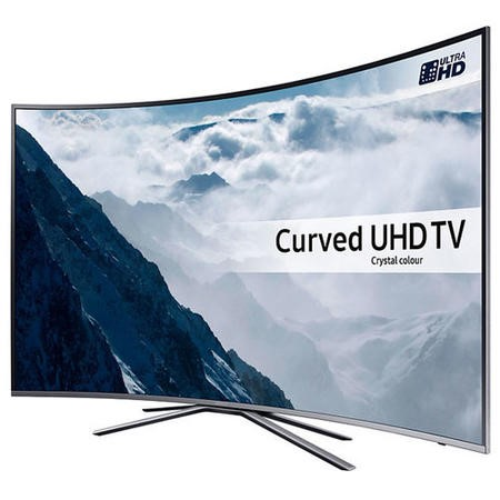 Samsung UE49KU6500 49 Inch Curved 4K Ultra HD HDR Smart TV with Freeview HD/Freesat HD Playstation Now and Active Crystal Colour - Silver