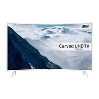 "Samsung UE49KU6510 49"" 4K HDR Ultra-HD Curved Smart LED TV 1600 PQI White"