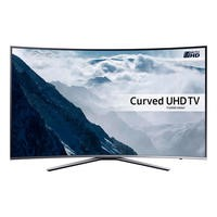 "Samsung UE55KU6500 55"" 4K HDR Ultra-HD Curved Smart LED TV 1600 PQI Silver"