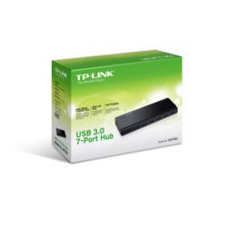 TP-Link USB 3.0 7-Port Hub with UK power adaptor and 1m USB 3.0 cable - UH700