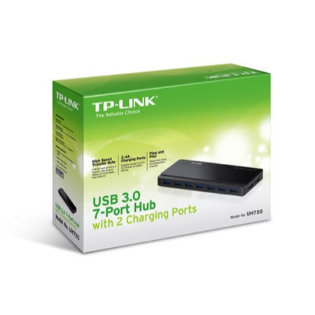 TP-Link USB 3.0 7-Port Hub with 2 Charging Ports