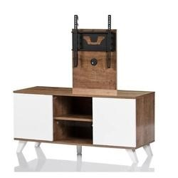 UK-CF Mardrid Oak White TV Stand for screens up to 52""