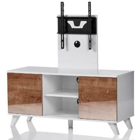 "UK-CF Madrid TV Stand with TV Bracket for up to 52"" TVs - White/Oak"